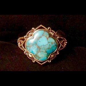Jewelry - BEAUTIFUL Faux Turquoise Cuff Bracelet